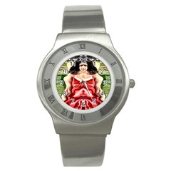 Cubist Woman Stainless Steel Watch (slim) by icarusismartdesigns