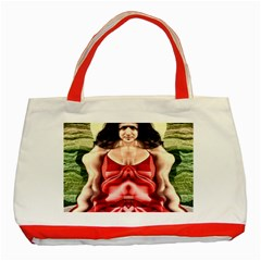 Cubist Woman Classic Tote Bag (red) by icarusismartdesigns