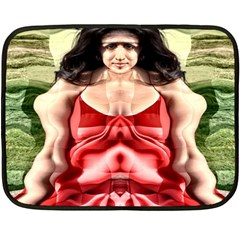 Cubist Woman Mini Fleece Blanket (two Sided) by icarusismartdesigns