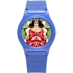 Cubist Woman Plastic Sport Watch (small) by icarusismartdesigns