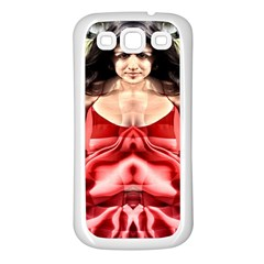 Cubist Woman Samsung Galaxy S3 Back Case (white)