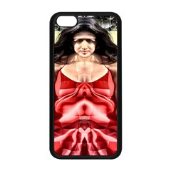 Cubist Woman Apple Iphone 5c Seamless Case (black) by icarusismartdesigns