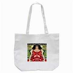 Cubist Woman Tote Bag (white) by icarusismartdesigns