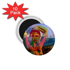 Fusion With The Landscape 1 75  Button Magnet (10 Pack)
