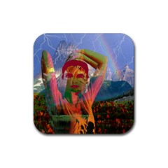 Fusion With The Landscape Drink Coaster (square)