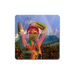 Fusion With The Landscape Magnet (square) by icarusismartdesigns