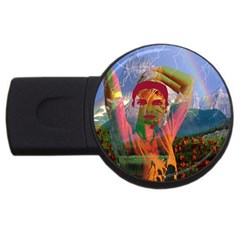 Fusion With The Landscape 4gb Usb Flash Drive (round)