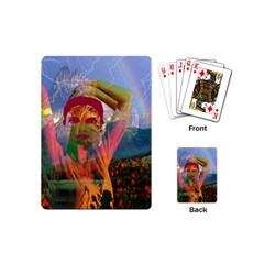 Fusion With The Landscape Playing Cards (mini) by icarusismartdesigns