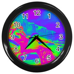 Seaside Holiday Wall Clock (black) by icarusismartdesigns