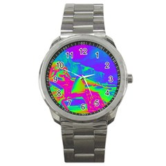 Seaside Holiday Sport Metal Watch by icarusismartdesigns
