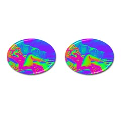 Seaside Holiday Cufflinks (oval)