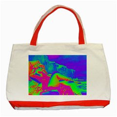 Seaside Holiday Classic Tote Bag (red) by icarusismartdesigns