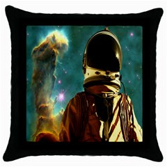 Lost In The Starmaker Black Throw Pillow Case by icarusismartdesigns