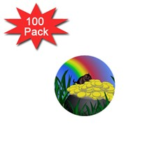 Pot Of Gold With Gerbil 1  Mini Button (100 Pack) by designedwithtlc