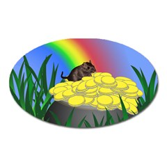 Pot Of Gold With Gerbil Magnet (oval) by designedwithtlc
