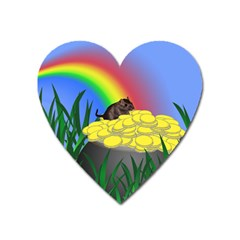 Pot Of Gold With Gerbil Magnet (heart) by designedwithtlc