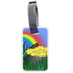 Pot Of Gold With Gerbil Luggage Tag (one Side) by designedwithtlc