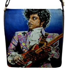 His Royal Purpleness Flap Closure Messenger Bag (small) by retz