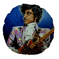 His Royal Purpleness 18  Premium Flano Round Cushion