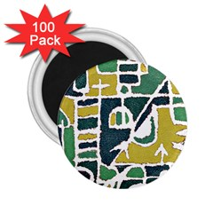 Colorful Tribal Abstract Pattern 2 25  Button Magnet (100 Pack) by dflcprints