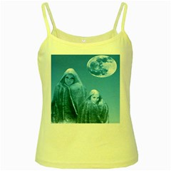 Full Moon Rising Yellow Spaghetti Tank by icarusismartdesigns