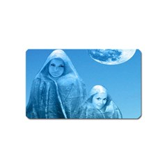 Full Moon Rising Magnet (name Card) by icarusismartdesigns