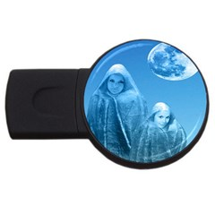 Full Moon Rising 2gb Usb Flash Drive (round) by icarusismartdesigns