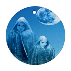 Full Moon Rising Round Ornament (two Sides)