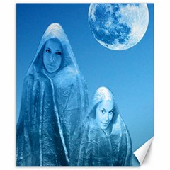 Full Moon Rising Canvas 8  X 10  (unframed) by icarusismartdesigns