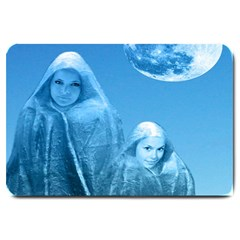 Full Moon Rising Large Door Mat by icarusismartdesigns