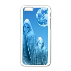 Full Moon Rising Apple Iphone 6 White Enamel Case by icarusismartdesigns