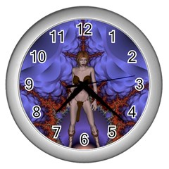 Chaos Wall Clock (silver) by icarusismartdesigns