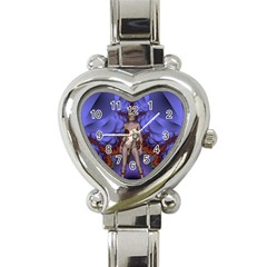 Chaos Heart Italian Charm Watch  by icarusismartdesigns