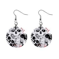 Skull Love Affair Mini Button Earrings