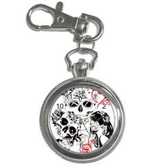 Skull Love Affair Key Chain Watch by vividaudacity