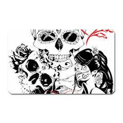 Skull Love Affair Magnet (rectangular) by vividaudacity