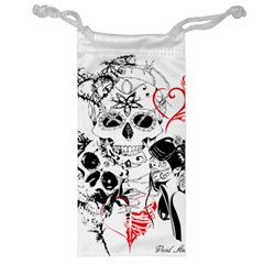 Skull Love Affair Jewelry Bag by vividaudacity