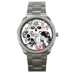Skull Love Affair Sport Metal Watch by vividaudacity