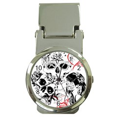 Skull Love Affair Money Clip With Watch