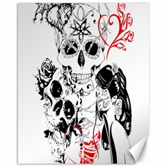 Skull Love Affair Canvas 16  X 20  (unframed) by vividaudacity