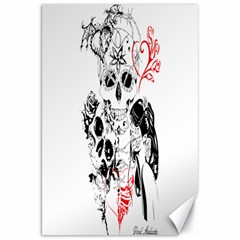 Skull Love Affair Canvas 20  X 30  (unframed) by vividaudacity