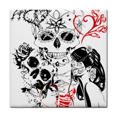 Skull Love Affair Face Towel by vividaudacity