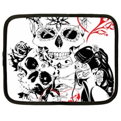 Skull Love Affair Netbook Sleeve (xl) by vividaudacity