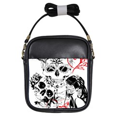 Skull Love Affair Girl s Sling Bag by vividaudacity
