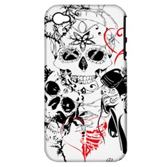 Skull Love Affair Apple Iphone 4/4s Hardshell Case (pc+silicone)