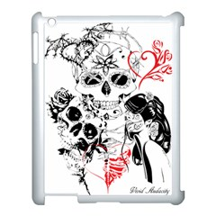 Skull Love Affair Apple Ipad 3/4 Case (white) by vividaudacity