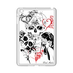 Skull Love Affair Apple Ipad Mini 2 Case (white) by vividaudacity