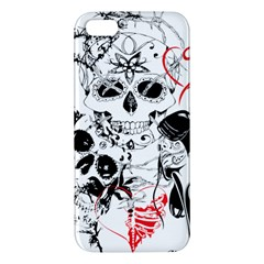 Skull Love Affair Apple Iphone 5 Premium Hardshell Case by vividaudacity