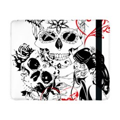 Skull Love Affair Samsung Galaxy Tab Pro 8 4  Flip Case by vividaudacity