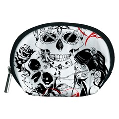 Skull Love Affair Accessory Pouch (medium)